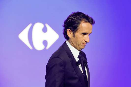 Alexandre Bompard, PDG de Carrefour, à La Défense, le 23 janvier.