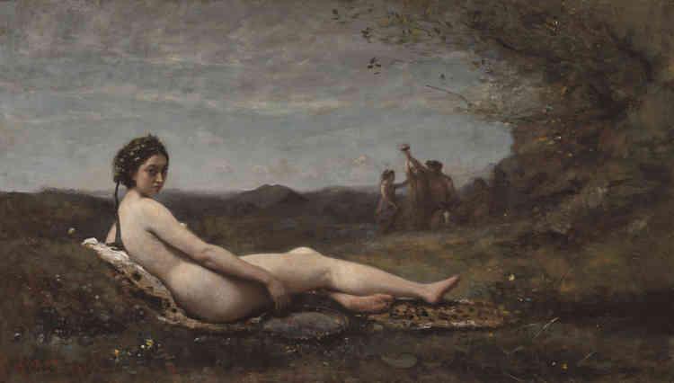« L'un des rares nus exposés au Salon – exposition des artistes contemporains – de 1861 par Corot : c'est aussi l'un des nus les plus monumentaux réalisés par l'artiste.»