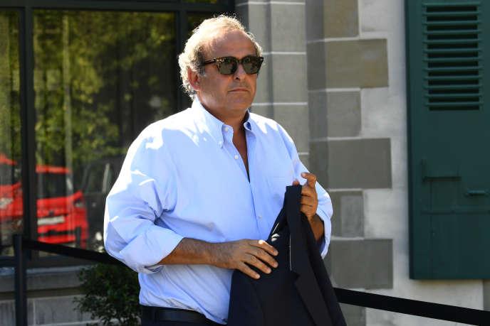 Michel Platini le 25 août 2016 à Lausanne (Suisse).