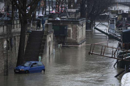 Bords de Seine à Paris, le 22 janvier.