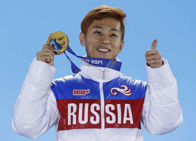Viktor Ahn, le 15 février 2014.