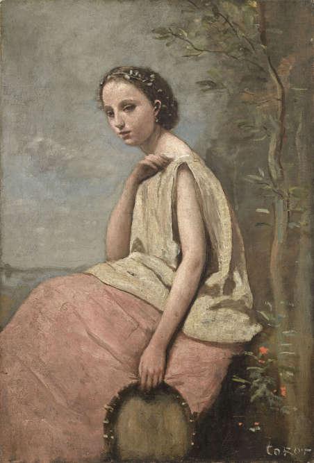"""« C'est une toile qui trouve ses racines dans les voyages que Corot réalisa quelque vingt ans plus tôt – le mot """"Zingara"""" désignant une Gitane», détaille Sébastien Allard,conservateur général du patrimoine, directeur du département des peintures du Musée du Louvre et cocommissaire de l'exposition."""
