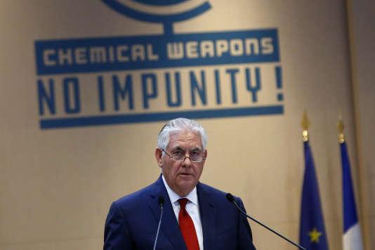 Le secrétaire d'Etat américain, Rex Tillerson, à Paris le 23 janvier.