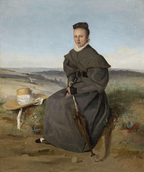 « Il s'agit d'une œuvre réalisée tôt dans la carrière du peintre : l'artiste tente ici de fusionner le portrait avec le paysage. »