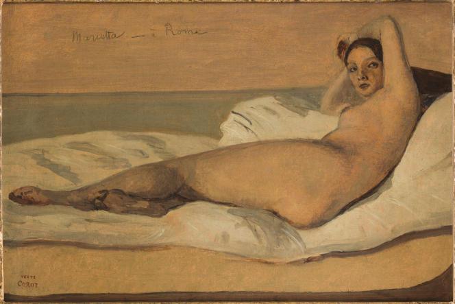 «Marietta»ou«L'Odalisque romaine» (1843), de Jean-Baptiste Camille Corot, huile sur papier marouflé sur toile.
