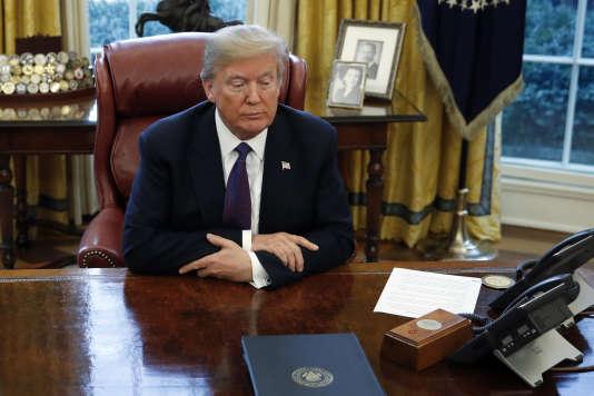 Donald Trump à la Maison Blanche, le 23 janvier 2018.