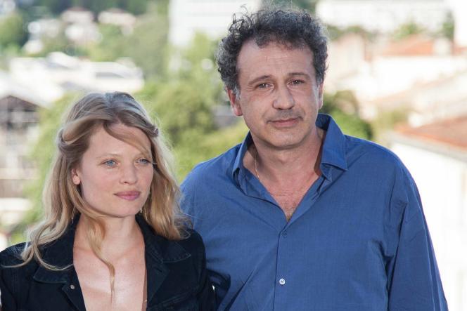 L'actrice Mélanie Thierry, avec le réalisateur Emmanuel Finkiel, au Festival du film francophone d'Angoulême, le 26 août 2015.