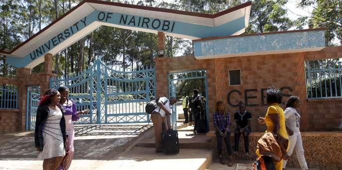 Etudiants de l'université de Nairobi au campus de Kikuyu, près de la capitale, en 2015.