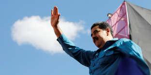 Le président Maduro lors des commémorations des 60 ans de la fin de la dictature de Marcos Perez Jimenez le 23 janvier à Caracas.