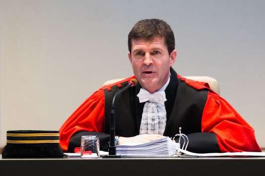 Le président de la cour d'assises de Bruges, Bart Meganck, le 15 janvier.