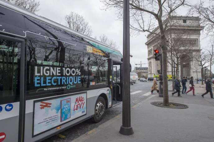 La RATP utilise déjà des bus électriques sur trois lignes à Paris.