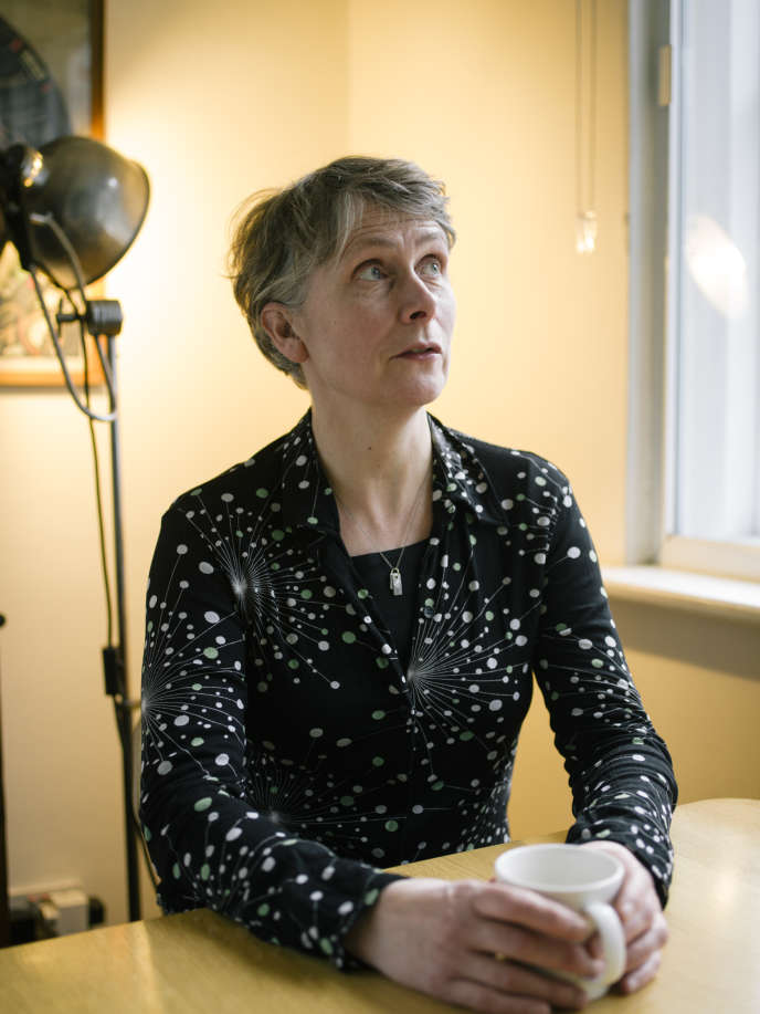 Katie Mitchell chez elle à Londres, le 23 janvier 2018.