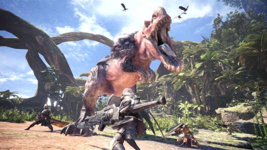 Dans «Monster Hunter World», les joueurs traquent de spectaculaires créatures fantastiques aux allures de dinosaures.