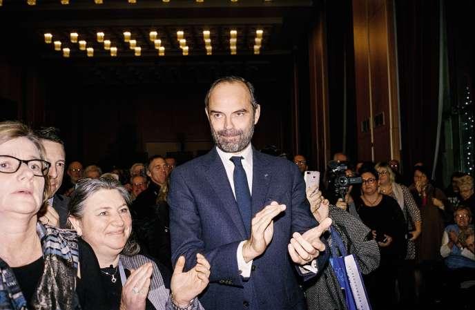 Edouard Philippe en visite le 19 janvier au Havre, ville dont il fut maireentre 2010 et 2017.