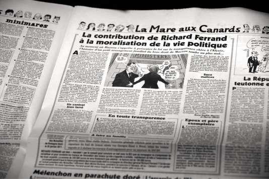 L'article du «Canard enchaîné» qui a révélé l'affaire Ferrand.