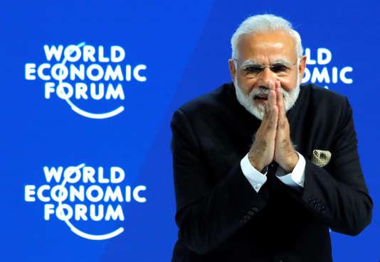 Le premier ministre indien Narendra Modi lors de la séance inaugurale du Forum économique mondial de Davos, le 23 janvier.