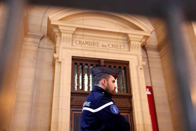 Le procès de Jawad Bendaoud, accusé d'avoir logé des terroristes responsables des attentats du 13-Novembre se tient au Palais de justice de Paris, ici, le 24 janvier.