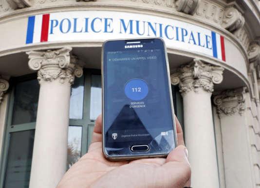 L'application sécuritaire Reporty, à Nice, le 23 janvier.