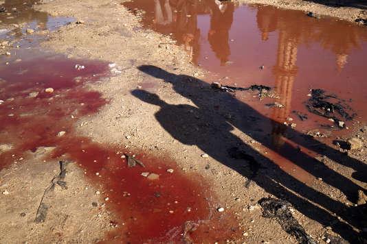 A Benghazi, en Libye, après une attaque à la bombe le 24 janvier 2018.