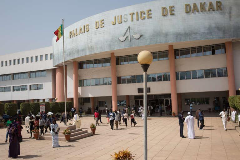 Le palais de justice de Dakar au Sénégal, le 23 janvier.