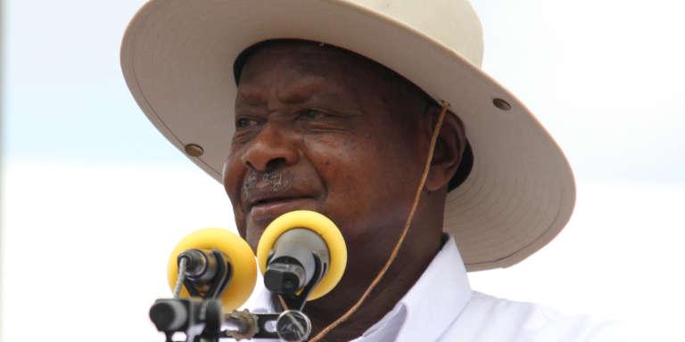 Le président ougandais Yoweri Museveni à Kabaale, au sud-ouest du pays.