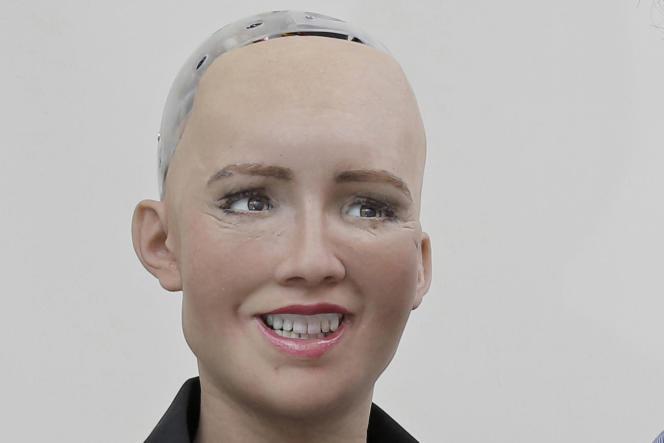 Sophia, robot conçu par l'entreprise Hanson Robotics, à Hongkong, en septembre 2017.