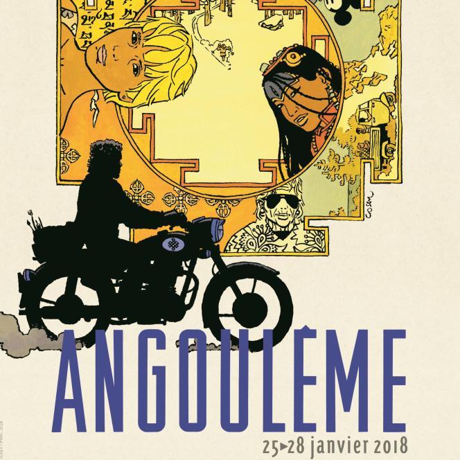 Affiche du 45e Festival de la BD d'Angoulême.