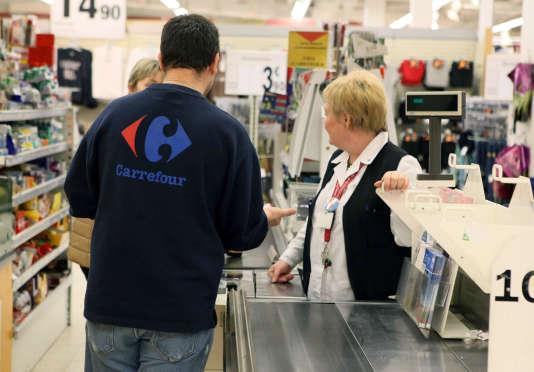 Le supermarché Carrefour d'Evere (région de Bruxelles-Capitale), en février 2010.