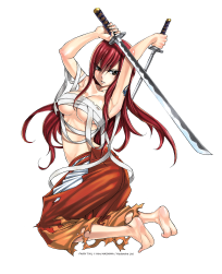 Erza est l'héroïne la plus forte de« Fairy Tail».