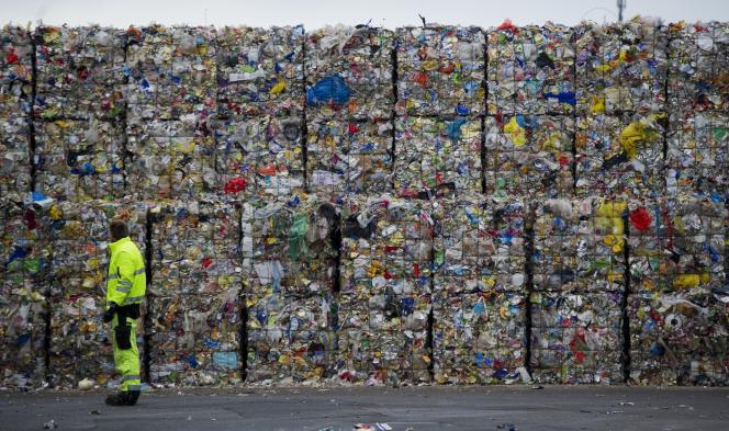 Un site de recyclage de déchets de l'entreprise Alba, à Berlin, en 2011.