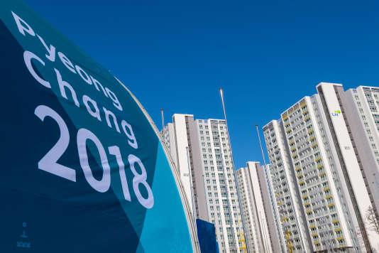 Le village olympique dePyeongchang, en janvier 2018.