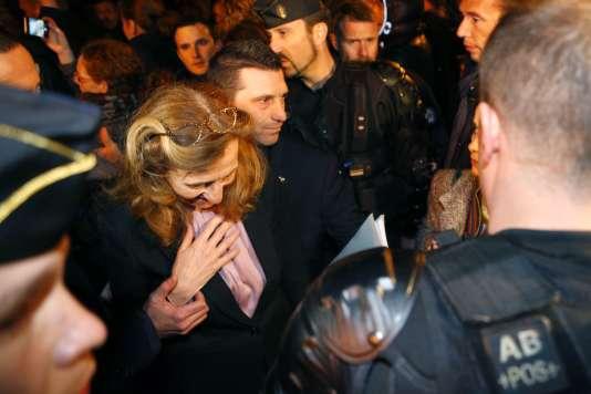 La ministre de la justice, Nicole Belloubet, en visite à la prison de Borgo (Corse), le 19 janvier.