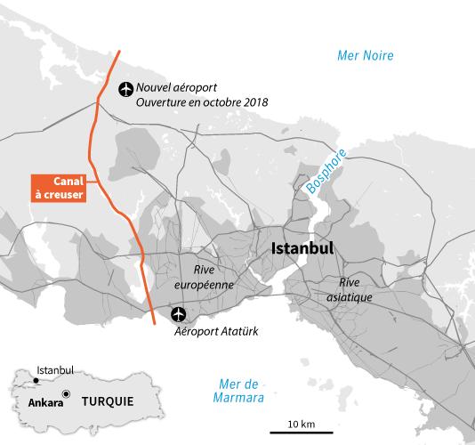 "Projet de ""Canal Istanbul""."