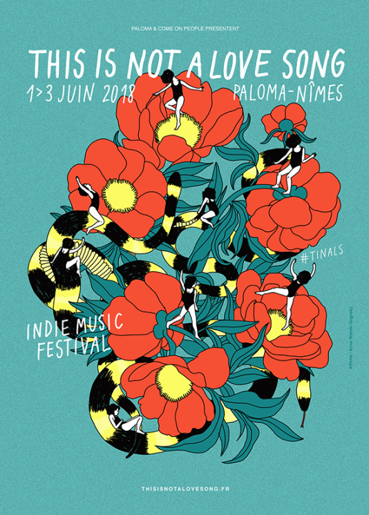 L'affiche 2018 dufestival This is Not a Love Song.