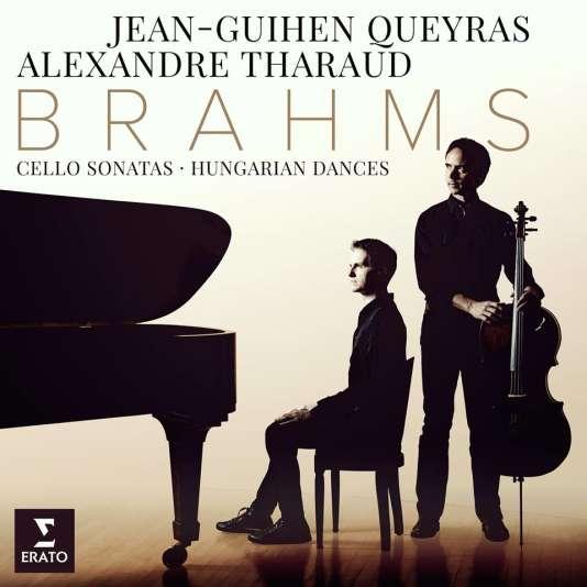 Pochette de l'album consacré à Brahms parJean-Guihen Queyras (violoncelle) et Alexandre Tharaud (piano).