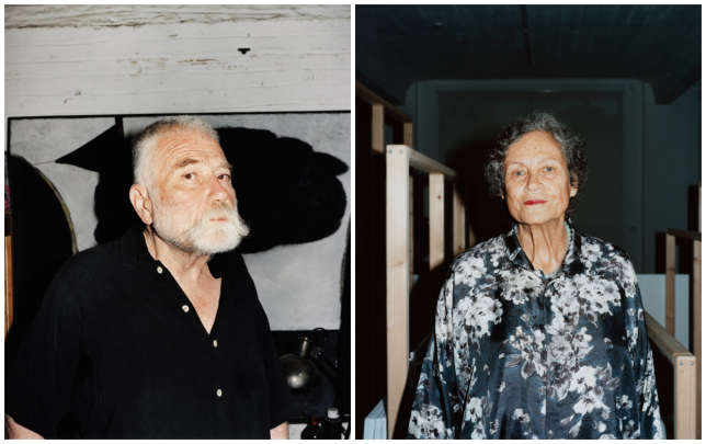 Peter Brötzmann, né en 1941 à Remscheid, et Rotraud Klein-Moquay, née en 1938 à Wustrow.