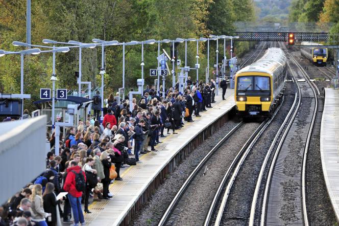 La gare de Petts Wood dans la banlieue sud-est de Londres, le 20 octobre 2017.