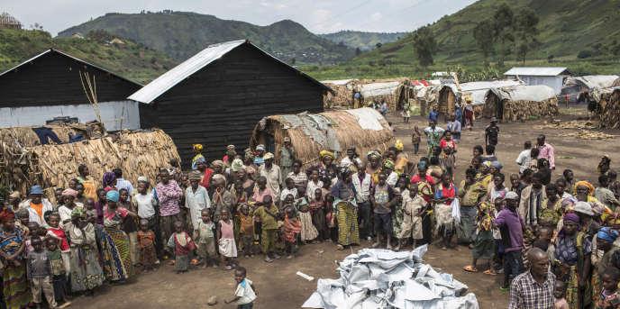Camp de réfugiés internes congolais à Minova, dans le Sud-Kivu, en mars 2013. La province est fréquemment le théâtre de combats entre l'armée et des milices rebelles.
