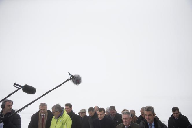 Emmanuel Macron au puy de Dôme, vendredi 26 janvier 2018.