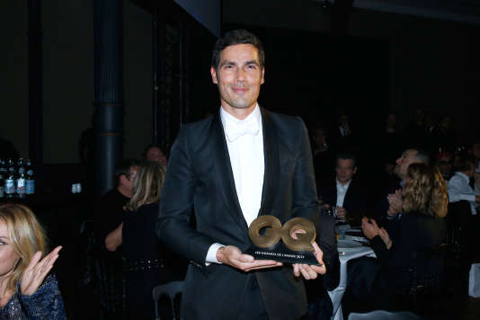 Mathieu Gallet reçoit le prix de l'Homme de l'année du magazine «GQ» dans la catégorie Médias, à Paris, le 15 novembre 2017.