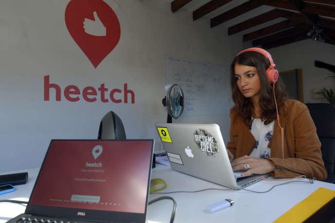 Au siège de Heetch à Paris en 2015.