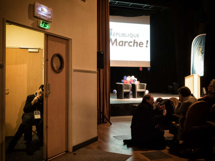 Réunion publique d'Isabelle Muller-Quoy, candidate La République en marche à la législative partielle de la 1re circonscription du Val-d'Oise.