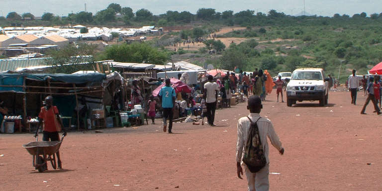 Des milliers de Sud-Soudanais nuer se sont réfugiés dans le camp onusien de protection des civils PoC3 au début des combats, en décembre 2013.