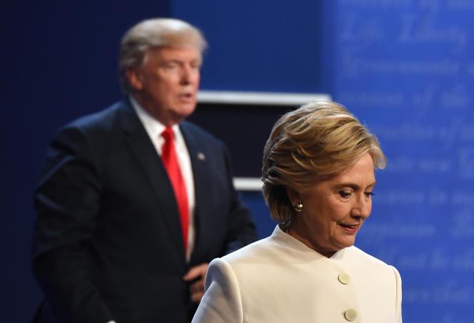 Donald Trump et Hillary Clinton, alors candidats à la présidentielle américaine, à Las Vegas, le 19 octobre 2016.