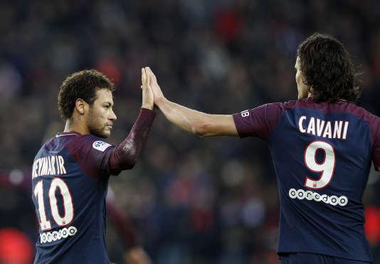 Edinson Cavani et Neymar, le 27 janvier au Parc des Princes.