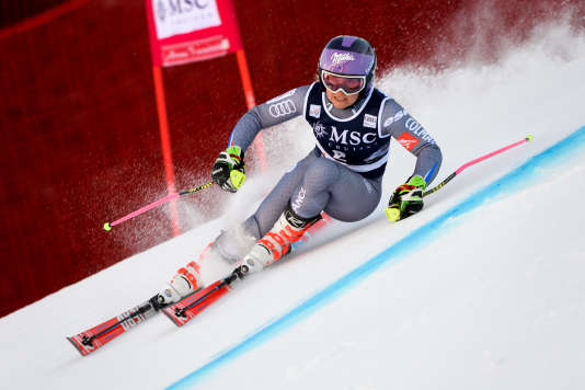 Tessa Worley sur le slalom de Lenzerheide, samedi 27 janvier.