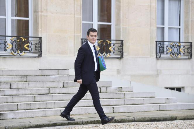 Gérald Darmanin, ministre de l'action et des comptes publics, le 24 janvier dans la cour de l'Elysée.