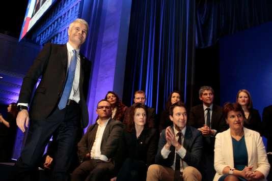 Laurent Wauquiez lors du congrès national du parti Les Républicains en janvier2018.