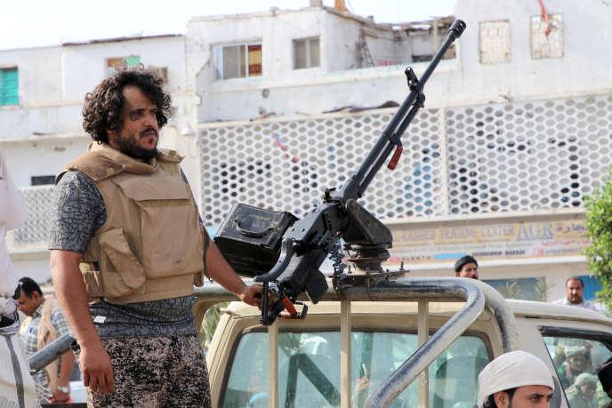Un combattant du Mouvement sudiste, séparatiste, à Aden, le 28 janvier.