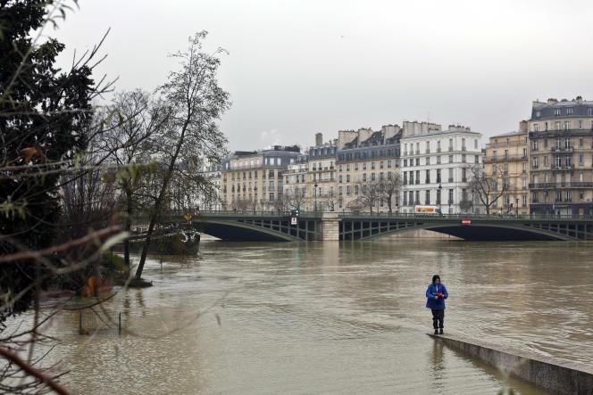 La situation de la Seine, à Paris, samedi 27 janvier.